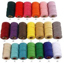 Corda torcido-cabo 100% corda de algodão fio colorido macrame corda fio para festa de casamento decoração acessório diy cabo