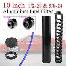 Nouveau 10 pouces voiture filtre à carburant solvant piège 1/2-28 pour NAPA 4003 WIX 24003 Aluminium filtre à carburant 1/2x28 Filtro NAPA 1/2 28 5/8-24
