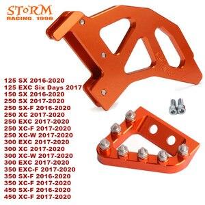 Image 1 - 2020 hinten Disc Rotor Bremse Wache Cover Schutz Pedal Für KTM SX XC XCW SXF SX F EXC EXC F XCF W 125 150 250 300 350 450