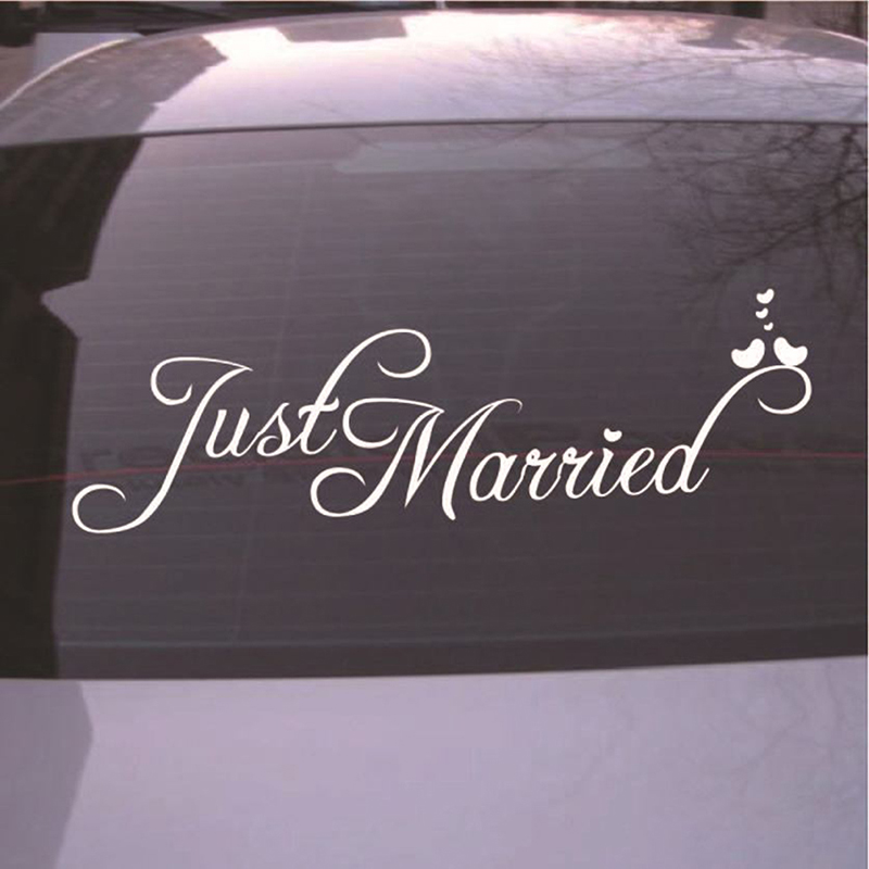 Just Married Wedding Car Window Banner Sticker Decal Craft Personalised Decor