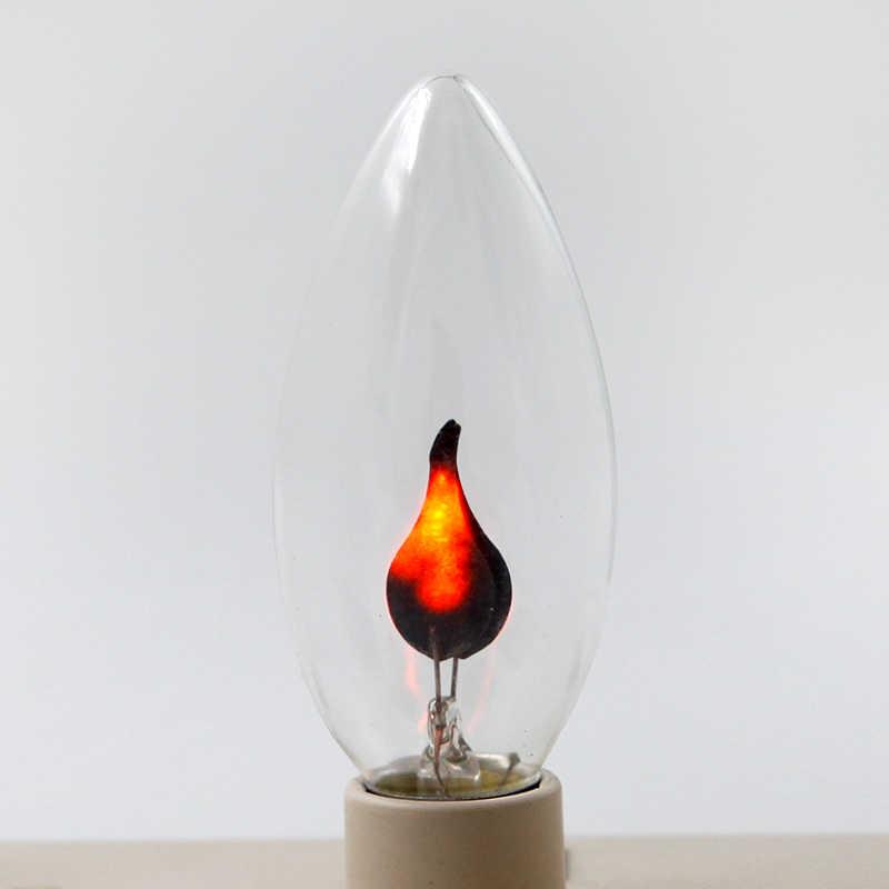 Bombilla Led Edison E14 E27 Vintage, bombilla de luz Led, bombilla de efecto de llama 3W AC220V, iluminación para el hogar, Bombilla de vela ampolla