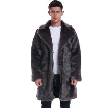 Autumn faux Rabbit fox mink leather jacket mens suit collar winter thicken warm fur leather coat men slim jackets