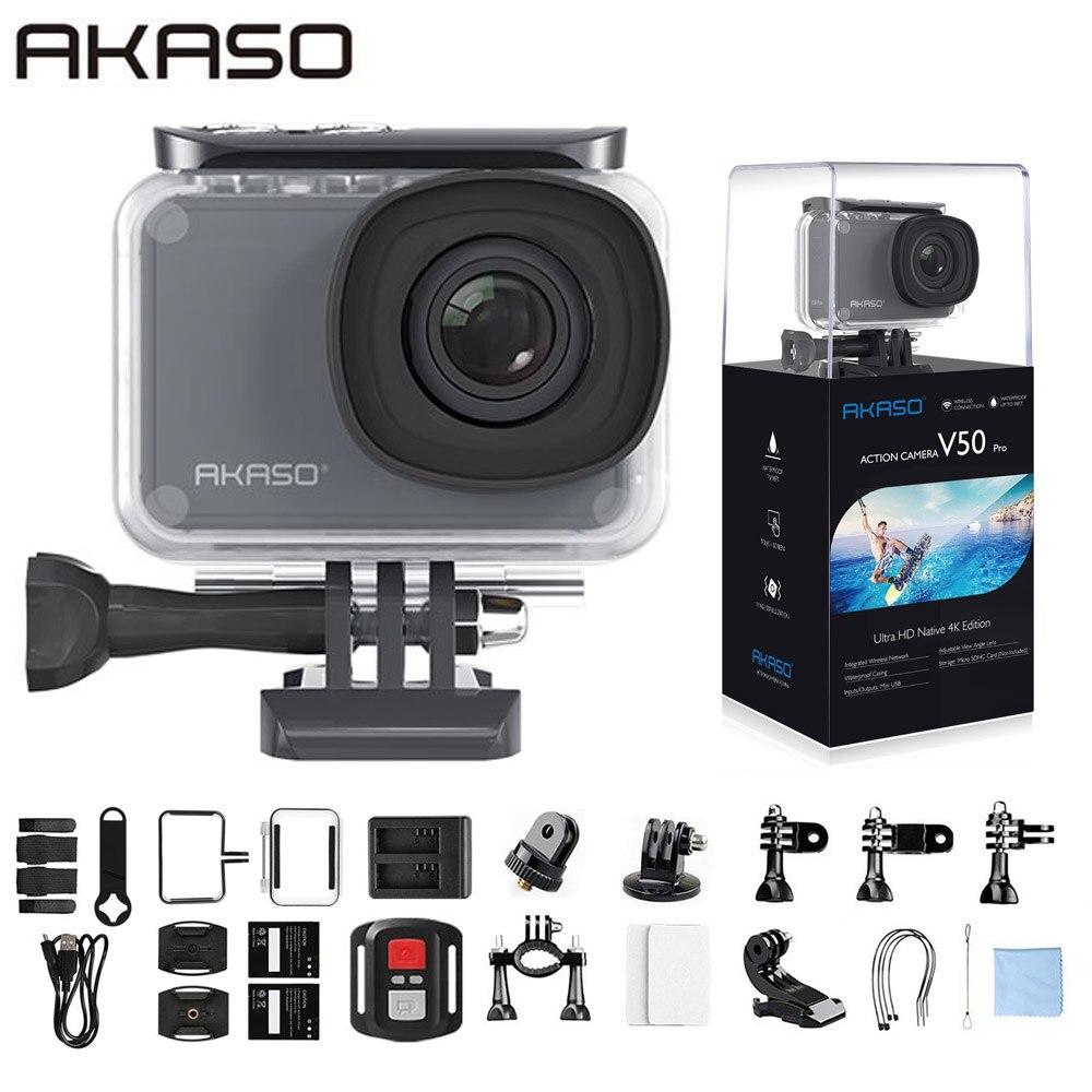 Экшн-камера AKASO V50 Pro, 4K/30fps, 20 МП, Wi-Fi, сенсорный экран, водонепроницаемость до 30 м