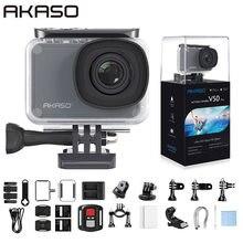 Akaso V50 Pro Inheemse 4K/30fps 20MP Wifi Actie Camera Eis Touch Screen 30 M Waterdicht 4K sport Camera Ondersteuning Externe Micro