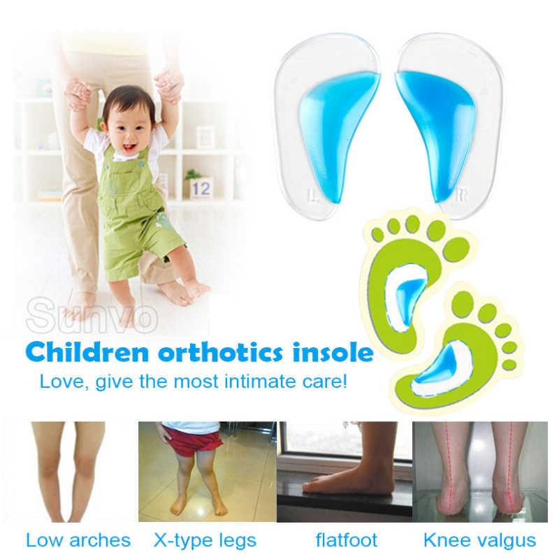 Sunvo ซิลิโคนเจลเด็ก Orthotics Insoles สำหรับเด็ก Flatfoot ศัลยกรรมกระดูก Corrector Arch สนับสนุน Cushion รองเท้าแผ่น Sole