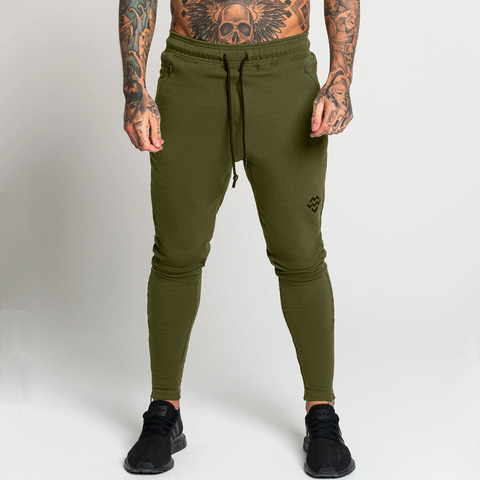 Joggers Sweatpants Men Casual Skinny Pants Gyms Fitness Workout Sportswear Sporty Trousers Male Autumn Winter Cotton Track Pants Lahore
