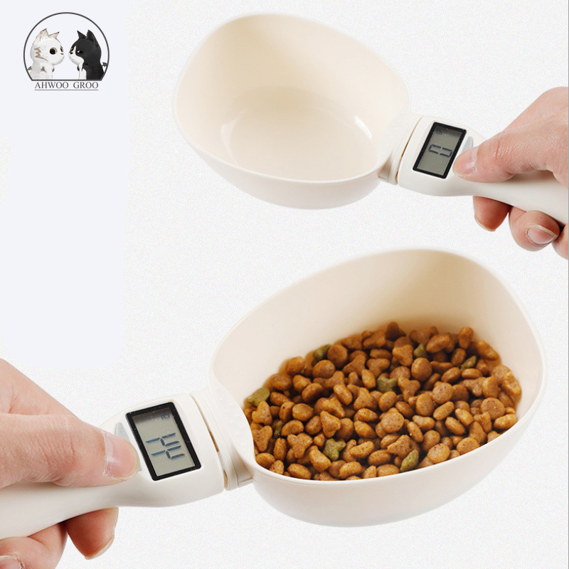 Pet Food Drug Scale Cup for Dog Cat 800g / 1g Feeding Bowl Scale Spoon Pets Measuring Scoop Cup Portable with Led Display Tools image