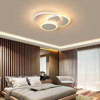 New Surface Mounted Modern led Chandelier for living Room Bedroom Study Room Coffee or White Finished Ceiling Chandelier fixture