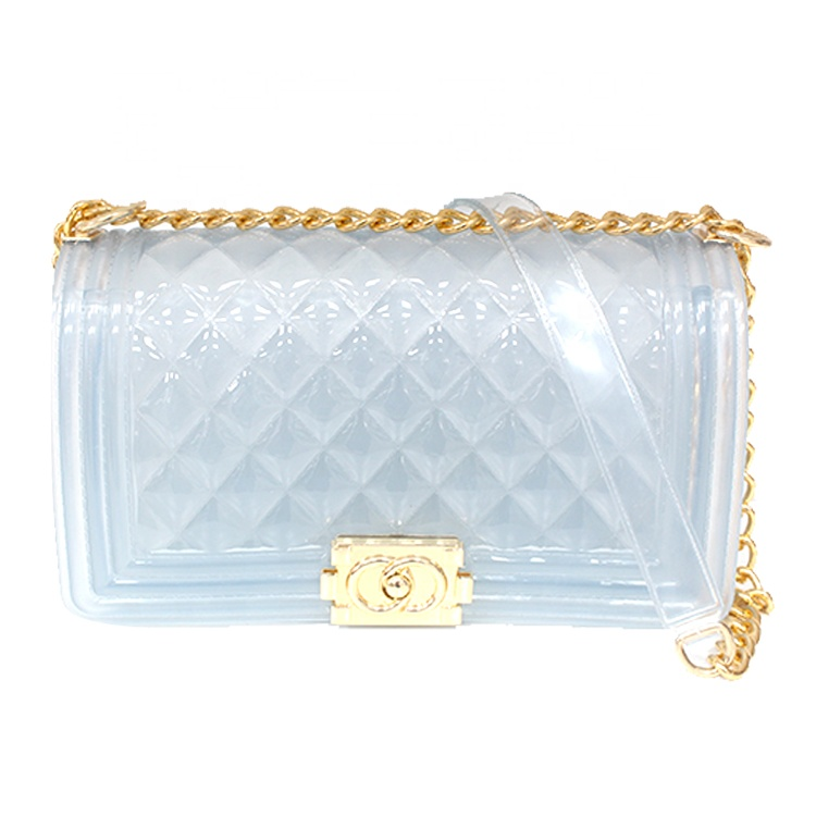 Trendy New Women Jelly Sac  Shoulder Bag Female Clear Large Phone Messenger Bag Transparent Girls Jelly Bag