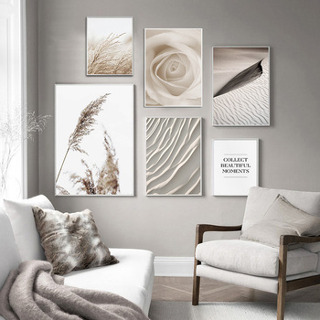 Scandinavian Desert Reed Nordic Modern Art Decor Poster Quality Canvas Painting Home Decor Picture living room Wall Decor A876