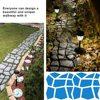 Reusable Manually Paving Cement Brick Concrete Molds DIY Plastic Path Maker Mold Garden Stone Road Mold Garden Decoration flash sale