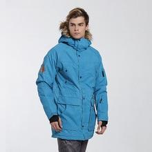цена на GSOU SNOW Men's Ski Jacket Waterproof Outdoor Warm Cotton-padded Jacket Snowboard Windproof Mountain Skiing Coat Ski Jacket Men