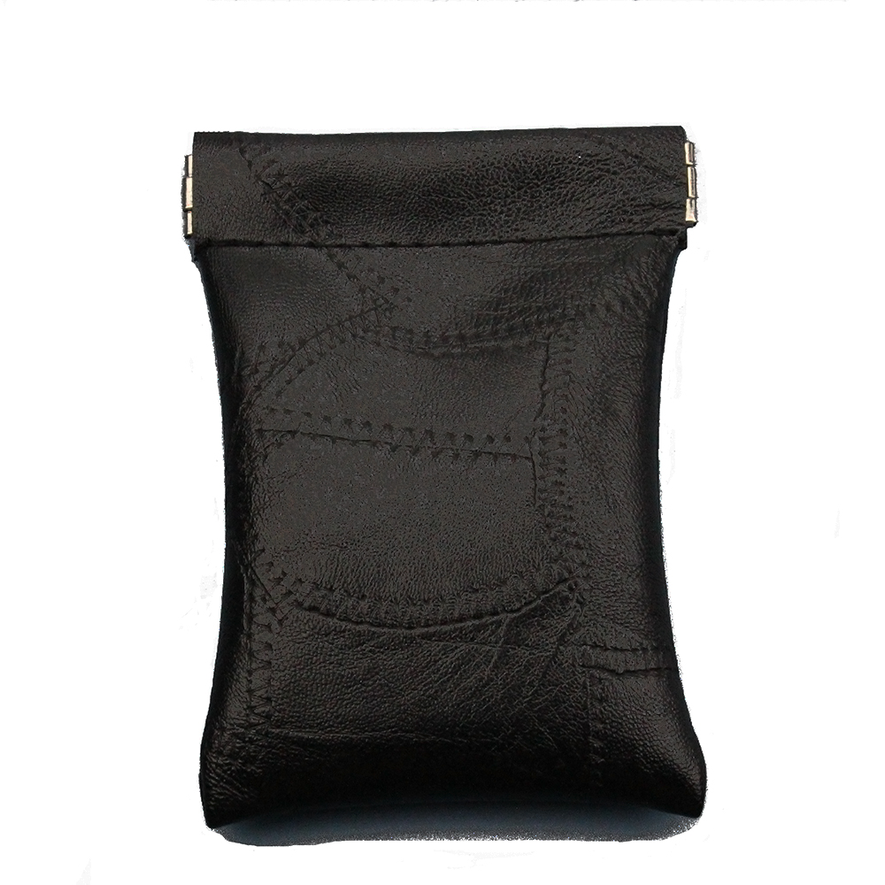 Black New Fashion Pu Leather Long Pocket Key Wallet Keyring Coin Purse Women Men Small Short Money Change Bag Little Card Holder
