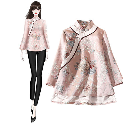 Boutique 2020 Chinese New Year Pink Vintage Traditional Jackets
