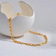 Латунь с золотом 18k geo цепи колье Цепочки и ожерелья Для женщин