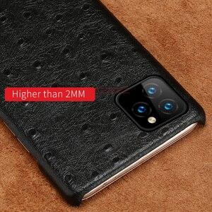 Image 5 - Skórzana twarda obudowa dla iphone 11 Pro max ckhb 16k strusia ziarna tylna pokrywa Fundas dla iphone XR Xs Max 7 8 Plus