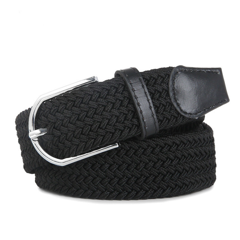 High Quality Fashionable Elastic Canvas Belts For Women Knitted Buckle Adjustable Belt Male Canvas Belts For Jeans 2019 NEW