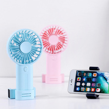 Portable Mini Fan USB Charging Multifunction Handheld Fan with Phone Holder for Outdoor Travel OD889