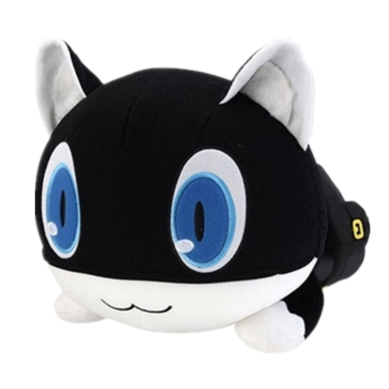 Persona 5 the Animation plush toy black cat Morgana Mona anime figure cosplay plush doll 40cm high quality pillow free shipping image