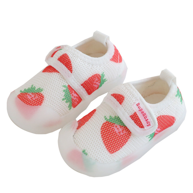 Breathable Toddler Shoes Boy & Girl Children's Air Mesh Shoe Soft-Soled Infant Fruit Baby Kids Sneakers Size 15-20