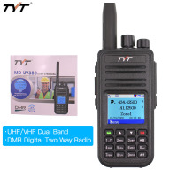 Dual display color walkie talkie TYT MD UV380 dual band radio VHF+UHF digital DMR two way radios MDUV380 dual time slot transcei