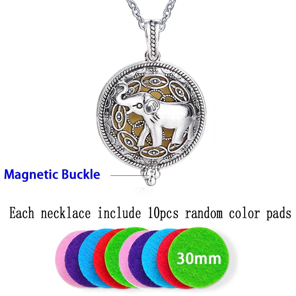 1 шт. 70 см винтажные ароматерапия парфюмерные эфирные масла диффузор ожерелье медальон ожерелье кулон Ловец снов колье с кулоном в стиле викингов - Окраска металла: Elephant
