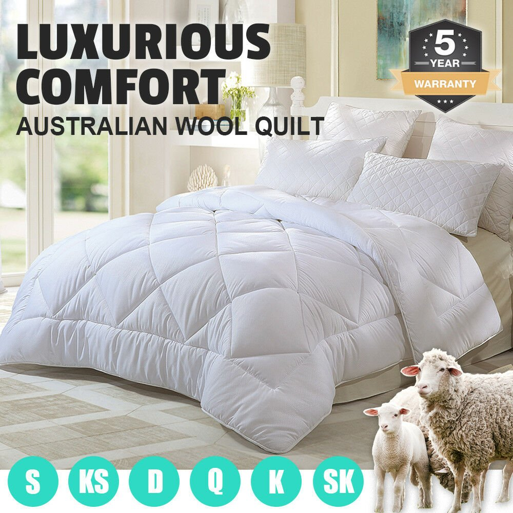 100% Wool Down Comforter 700GSM Duvet Filling Comforter For Summer Winter Twin Single Queen King Supper Thick Blanket Handmade