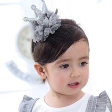 Fashion Beauty Cute Sweet Kids Girl Baby Headband Bring Crown Hair Band Headband Baby Wrap Bebe Headbands For Girls(China)