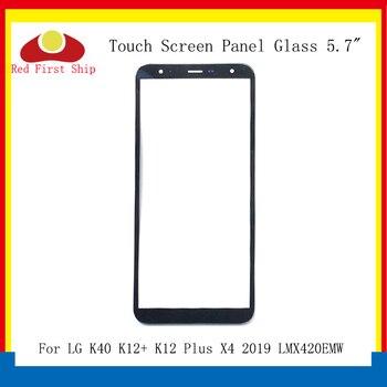 Перейти на Алиэкспресс и купить 10 шт./лот сенсорный экран для LG K40 K12 + K12 Plus X4 2019 LMX420EMW Сенсорная панель передняя внешняя K12 Plus ЖК-стеклянный сенсорный экран X420EM