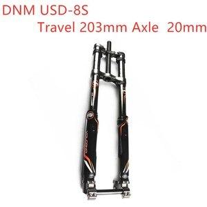 DNM USD-8S путешествия 203 мм ось 20 мм Горные Горный велосипед пневматическая подвеска вилка двойной тормозной Steerer трубка 28,6 мм (1,13 дюйма) 1-1/8