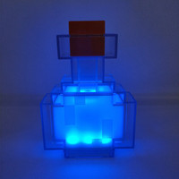 Minecraft Color Changing Potion Bottle Lights Up and Switches Between 8 Different Colors Shake Control Night Lamp Toy