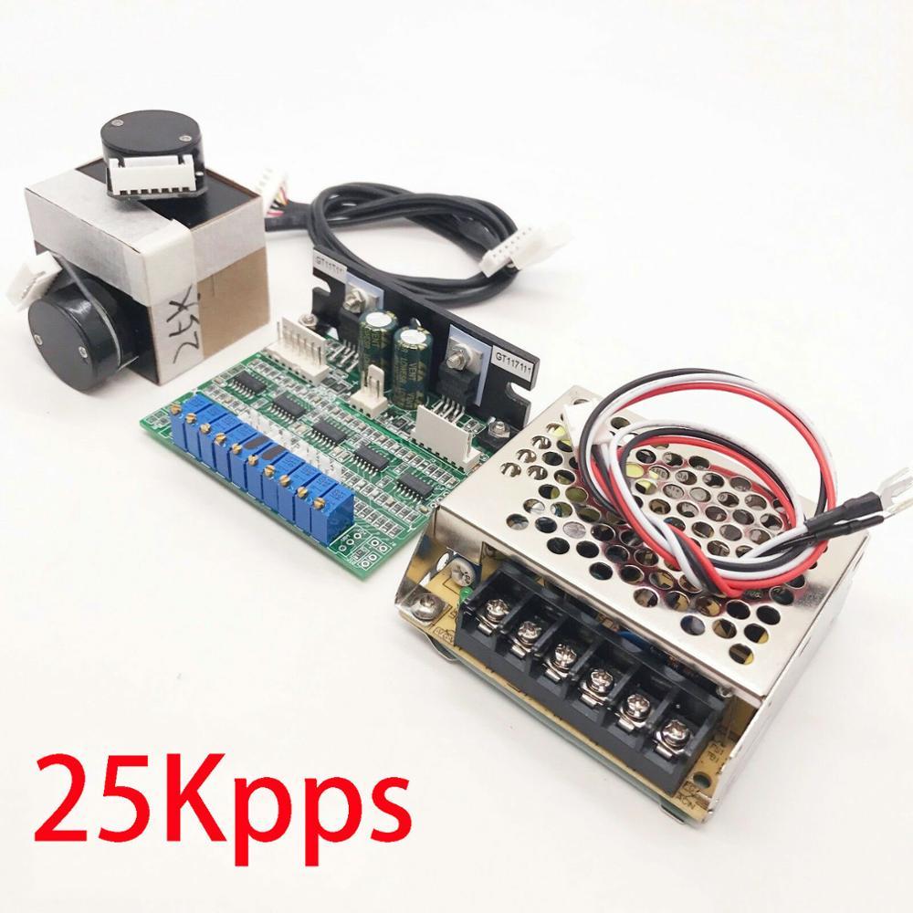 25Kpps High Speed Galvo Scanner For Laser Show Lighting/RGB Laser System Scanner