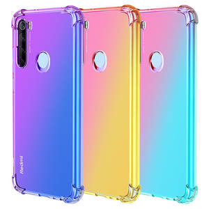 Airbag-Case Rainbow Gradient Xiaomi Redmi Shockproof for Note 8 7/6-5/8a/.. 9 9T A3 A2