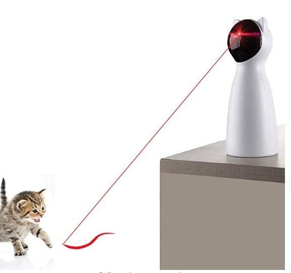 Brinquedo interativo automático do brinquedo do laser do gato para o gatinho/cães-carregamento de usb que coloca o ligar/desligar automático alto e silencioso