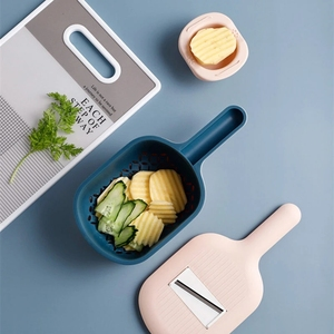 Image 5 - Youpin Jordan&Judy Multi functional Vegetable Cutter Manual Slicer Potato Grater Carrots With Food Storge Box Kitchen Accessorie
