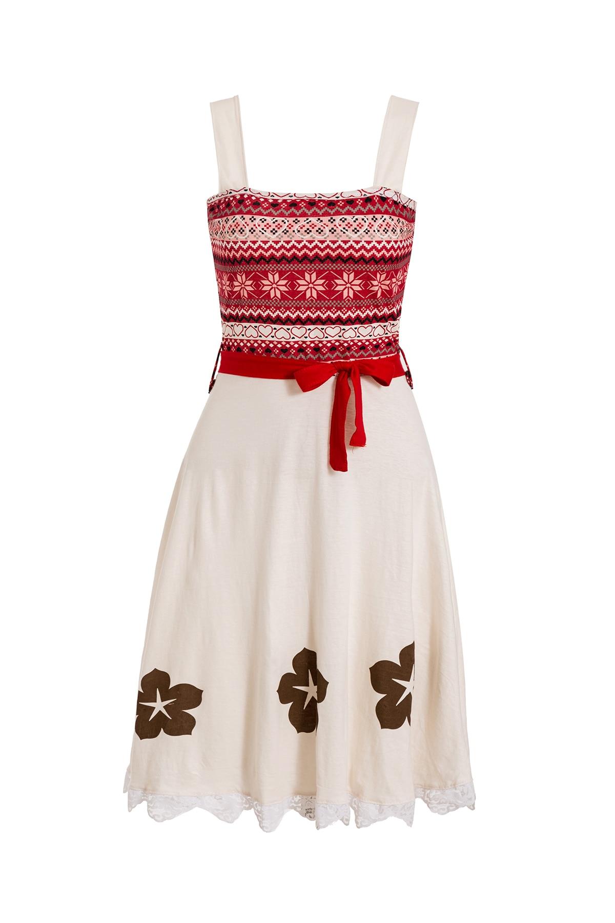 Платье принцессы для взрослых; одинаковый семейный маскарадный костюм «Минни Маус и я»; женское платье принцессы в горошек; большие размеры - Цвет: Moana