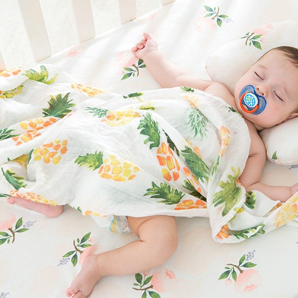 Double Gauze Baby Swaddle Blanket Pre-Cut Fabric 100/% Cotton Deer Print Muslin Wrap Blanket Kit