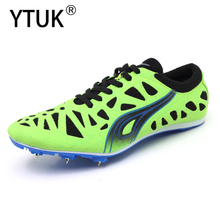 YTUK Professional sneakers Women's Track and Field Shoes Men's Soft bottom Spikes Running Training Shoes Light Racing Unisex