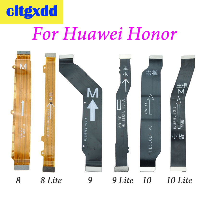 cltgxdd 1pc Main <font><b>Motherboard</b></font> Flex Cable Replacement Parts For <font><b>Huawei</b></font> <font><b>Honor</b></font> 8 <font><b>9</b></font> 10 <font><b>Lite</b></font> 8lite 9lite 10lite Connector Cable image