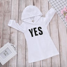 New Autumn Baby Girl Clothes 1-5T Cute Toddler Casual Fashion Long Sleeve Letter Printing Hoodie Kids Hooded Sweatshirt #m