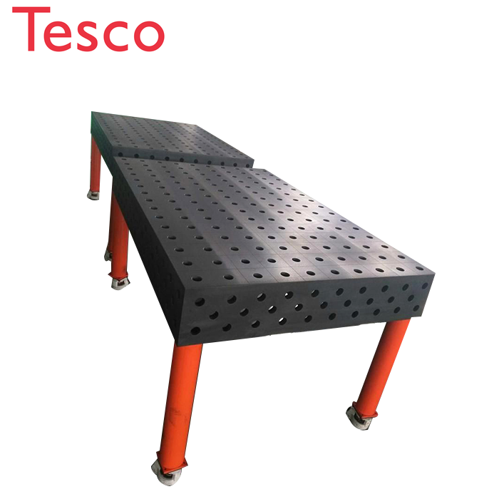 Optimum Surface Qualities 3D Welding Table With Adjustable Working Platform Equipment Clamping Part System