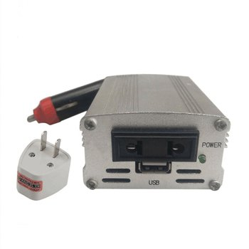 700W Silver Power Inverter Adapter Car Converter 12V to 110V/220V Input Car Power Converter Vehicle Power Supply Charger UK Plug