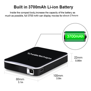 Image 5 - Smartldea DLP Máy Chiếu Mini Di Dùng Pin Sạc, 200Ansi HD Bỏ Túi Thông Minh Proyector Điện Thoại Có Dây Đồng Bộ Màn Hình