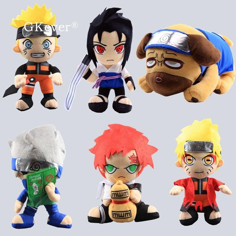 30 Cm Naruto Plush Toys Figure Japanese Anime Kakashi Pakkun Dog Uzumaki Naruto Uchiha Sasuke Figure Plush Doll Kids Gift