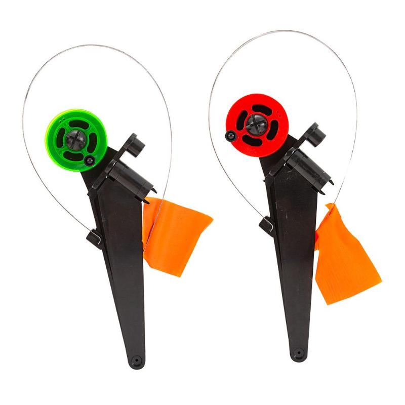 Automaticly Winter Ice Fishing Rod Tip-up with Spool Foldable Marker Flag for Outdoor Fishing Accessories River Tackle Equipment