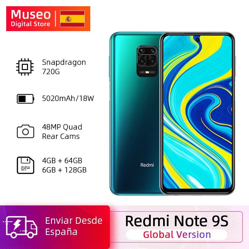 20 € Off Global Version Xiaomi Redmi Note 9S 64GB / 128GB Snapdragon 720G 48MP AI Quad Camera Note 9 S Smartphone 5020mAh QC 3.0