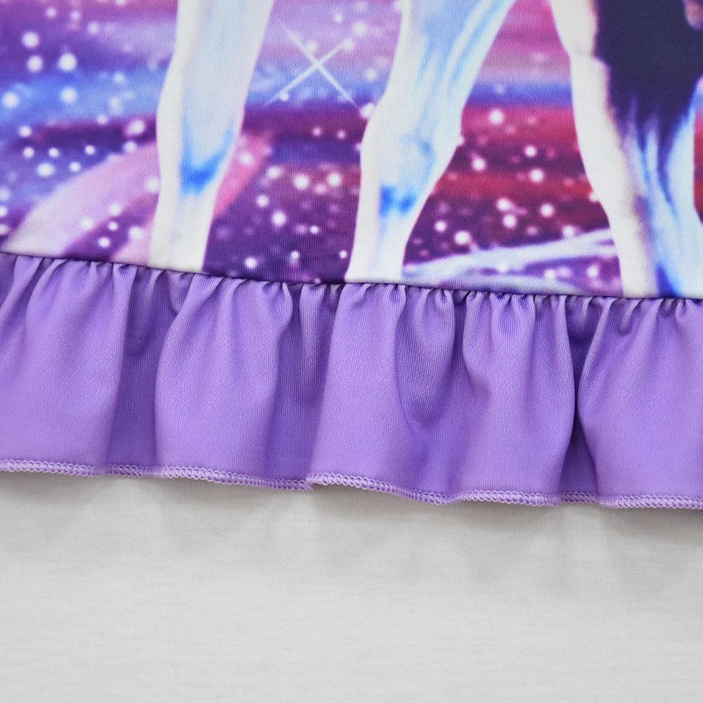 Summer Girls Dress Cartoon Unicorn Pajamas Kids Party Costume Princess Frocks Toddler Nightdress Baby Homewear Children Vestidos 6