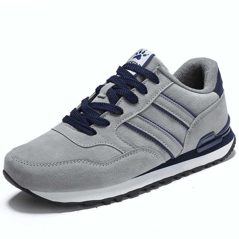 2020 zapatos informales de cuero artificial para hombre, zapatos informales de primavera para hombre, zapatillas planas transpirables para exteriores