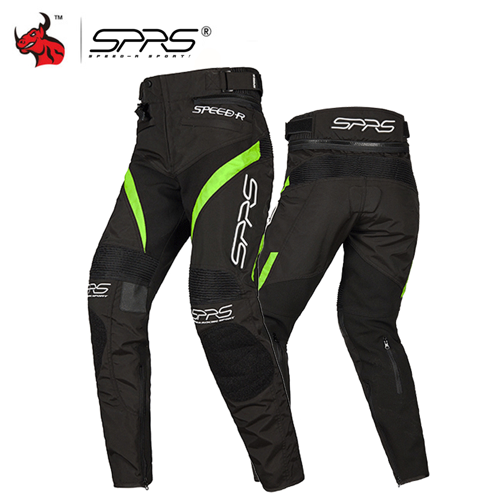 SPRS Motorcycle Pants Protective Gear Men Moto Motocross Off-Road Racing Pants Motorcycle Trousers With Removable Knee Pads