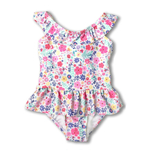 New style Kids One Piece Swimsuit 2-7 Y Baby Girl Swimwear with flowers pattern Children summer beach wear Child bathing suit children s garment girl summer wear children suit new pattern child nail bead skirt 2 pieces kids clothing sets